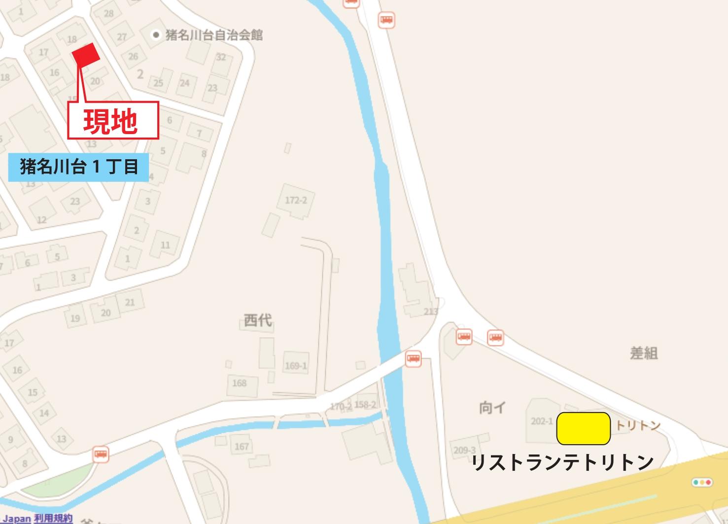 猪名川台地図